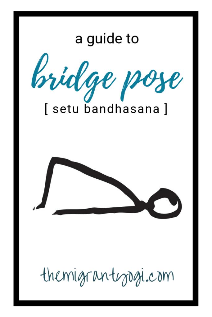Stick figure doing bridge pose in yoga - setu bandhasana