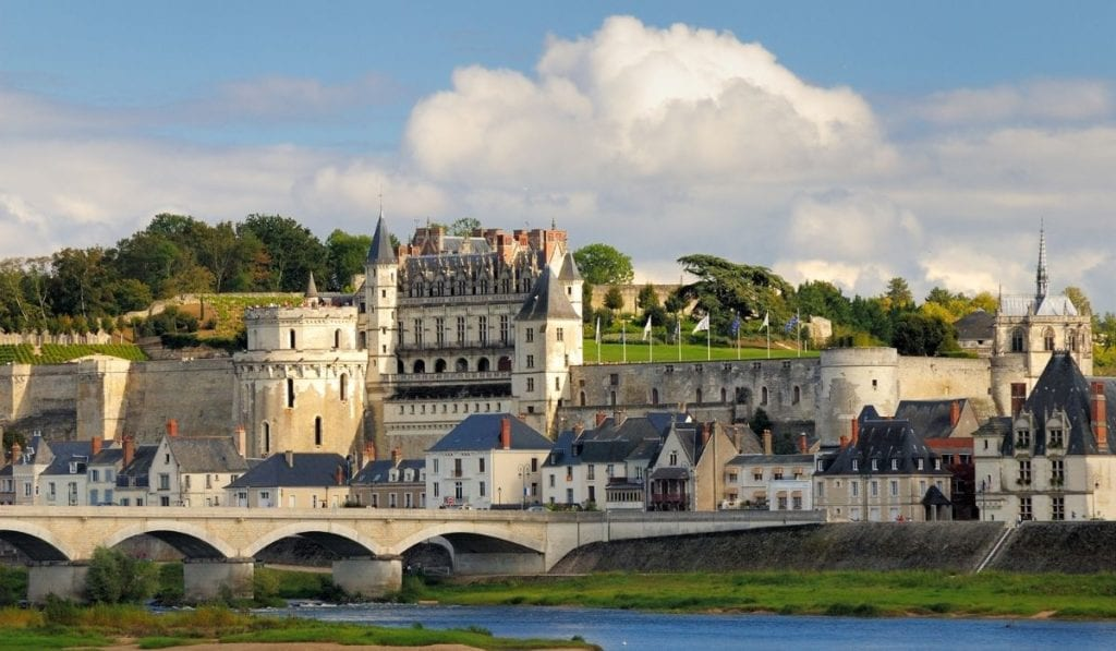 Chateau Royal d'Amboise as seen from across the Loire River.