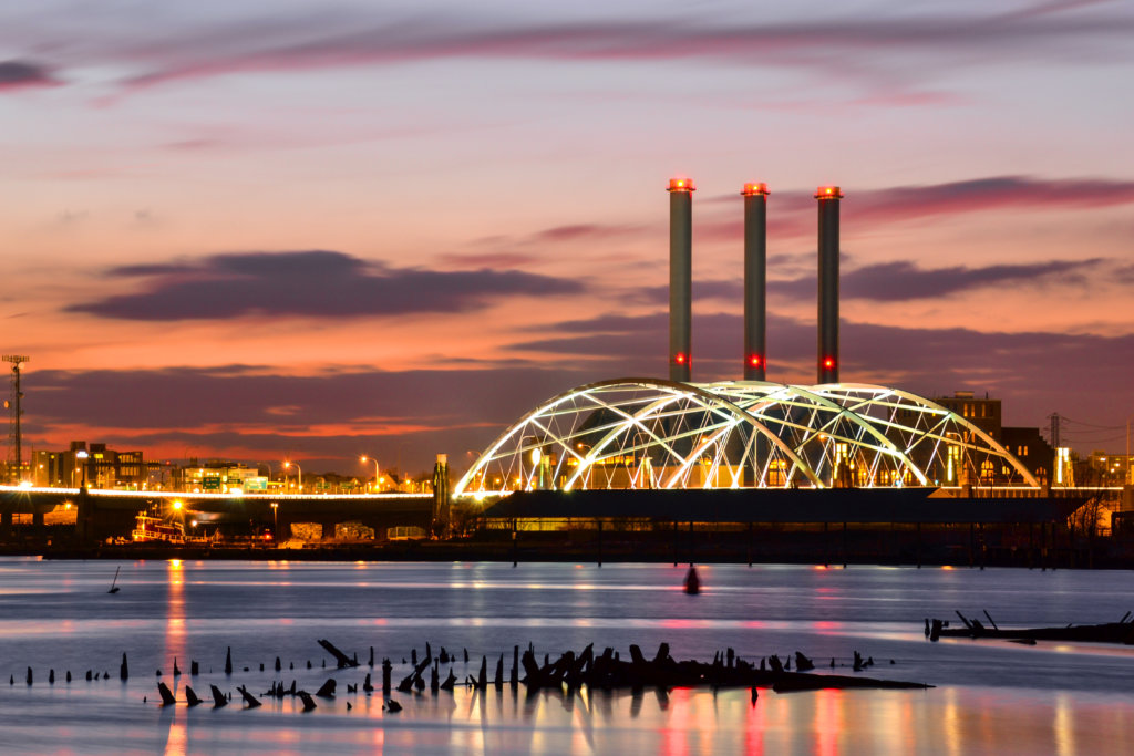 Providence skyline at sunset