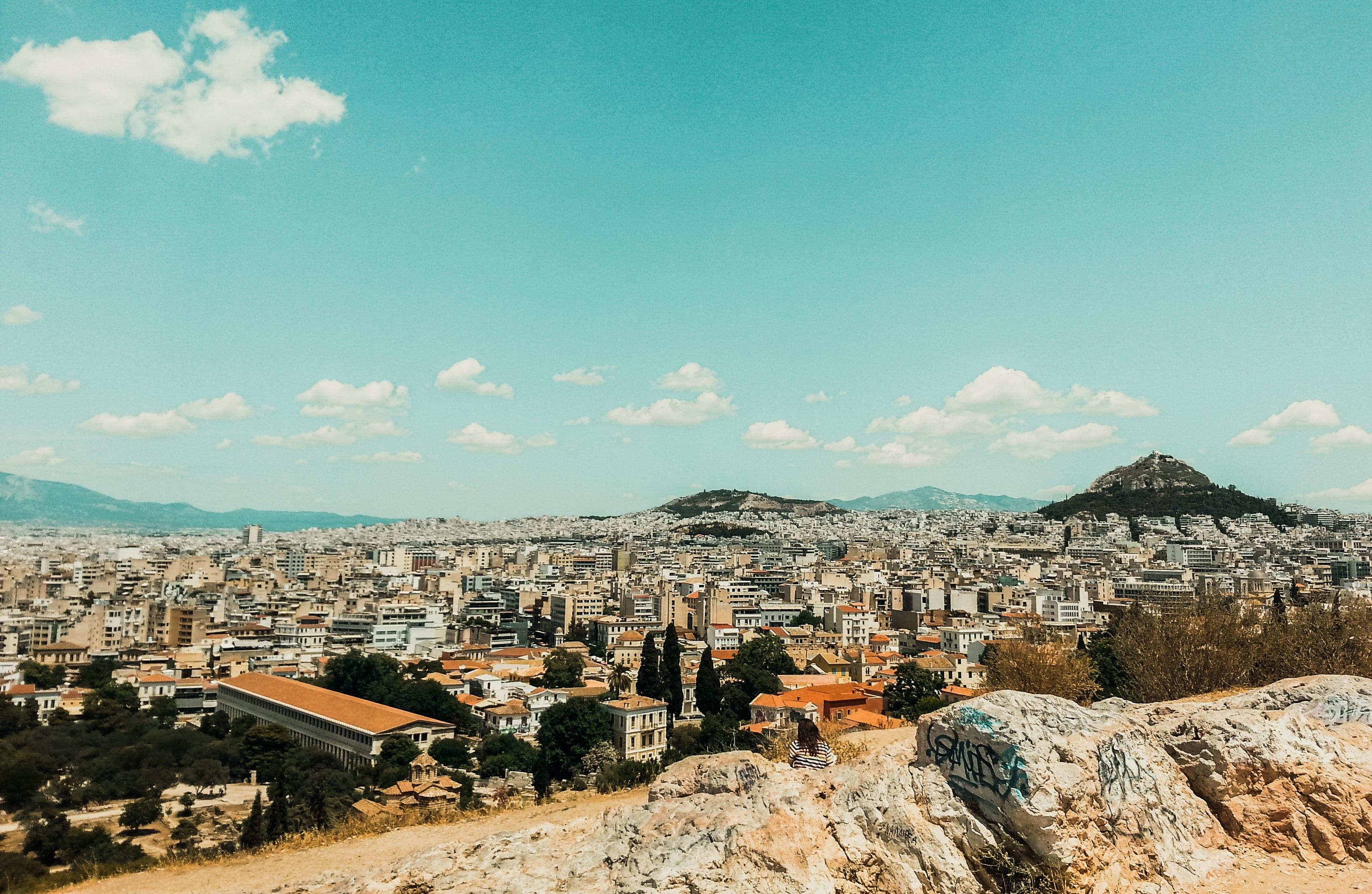 View of the city of Athens from Acropolis.