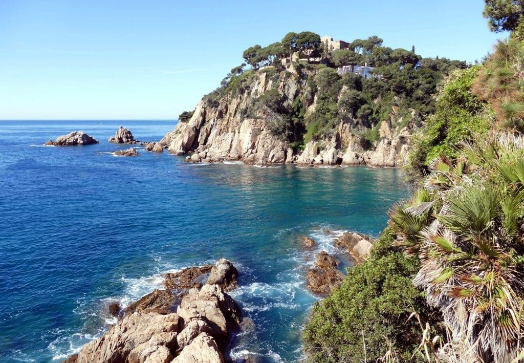Rugged coastline of Costa Brava, Spain.