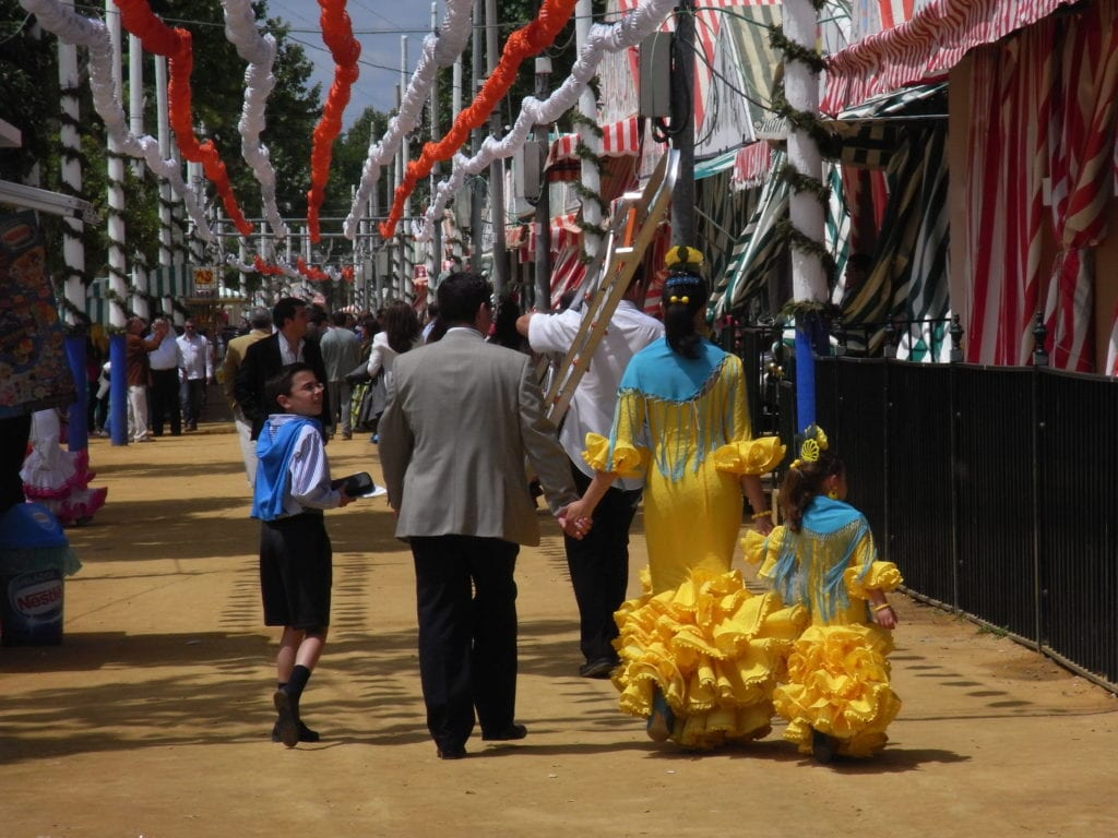 Celebrations of Feria de Abril in Seville, one of Europe's best spring celebrations.