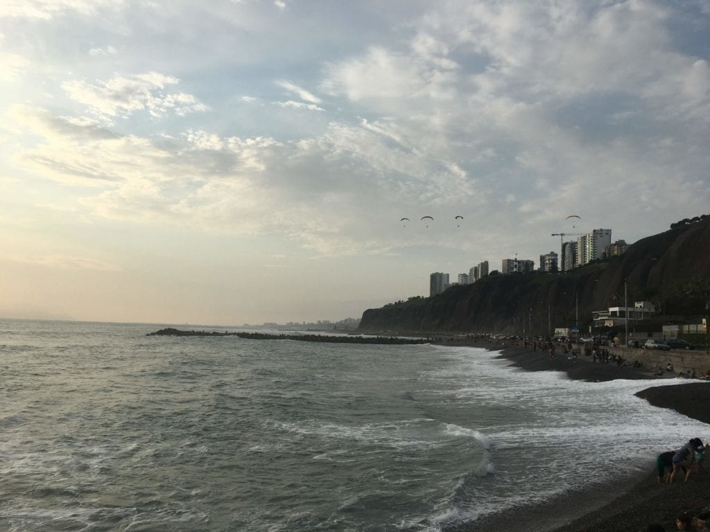 Beaches along the coastal city of Lima, Peru, one of the best digital nomad cities.