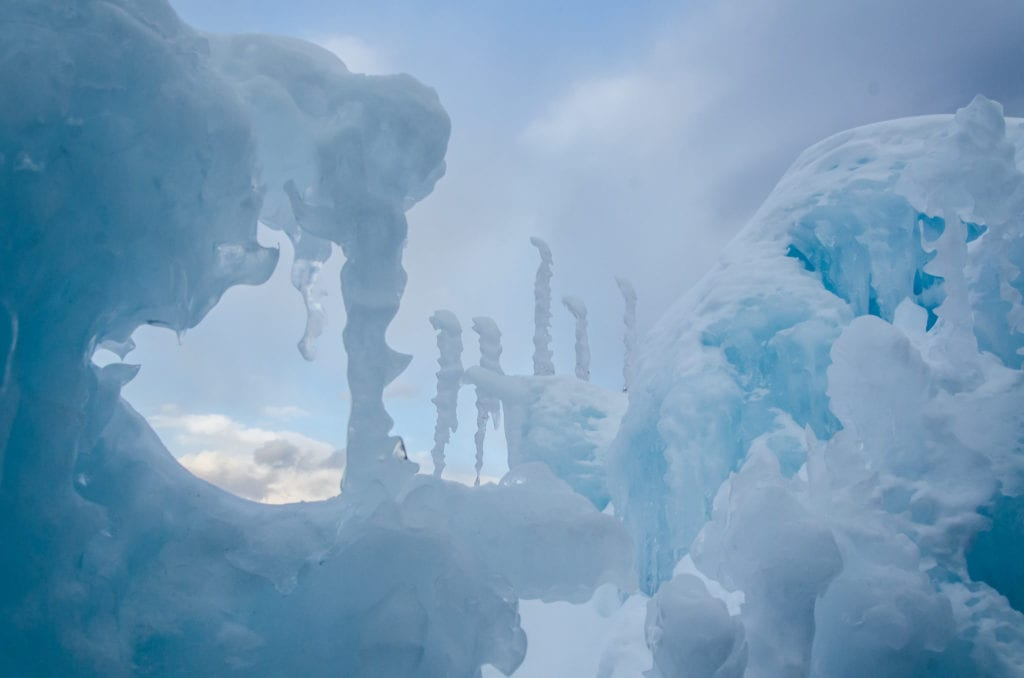 Lincoln Ice Castles in New Hampshire, a doable day trip from Boston.