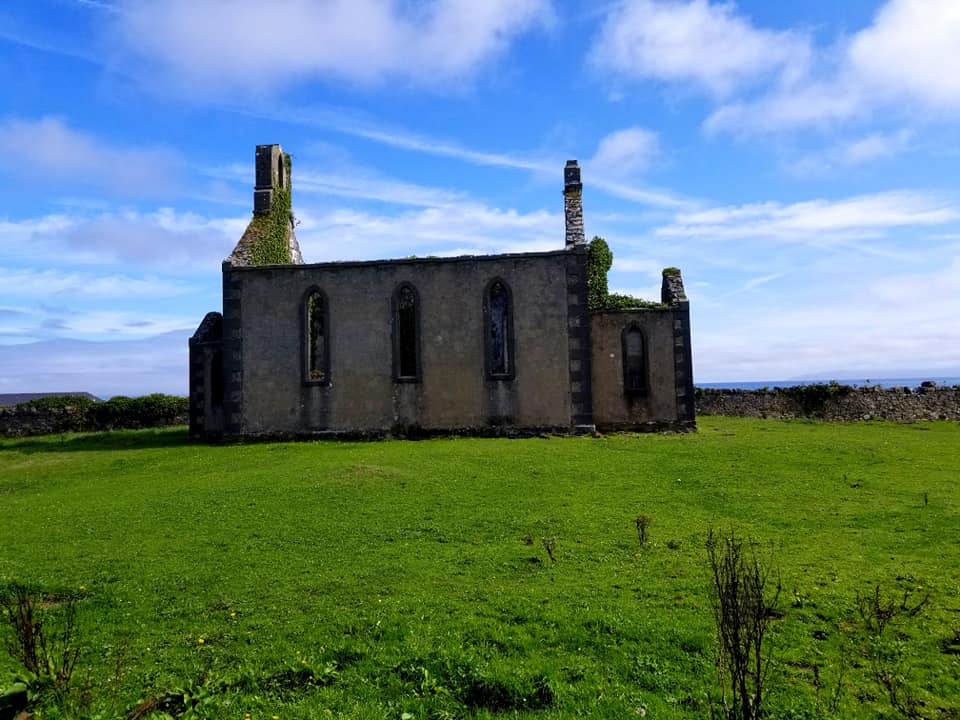 Abandoned ancient building on the island of Inis Mor, Ireland.
