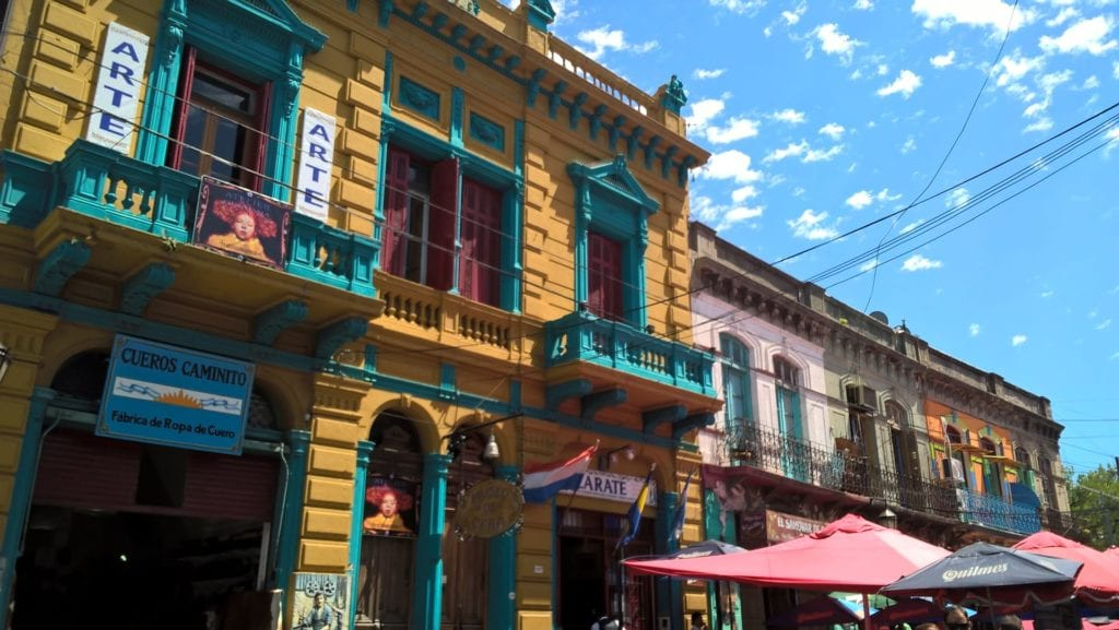 Colorful buildings in Buenos Aires, Argentina.