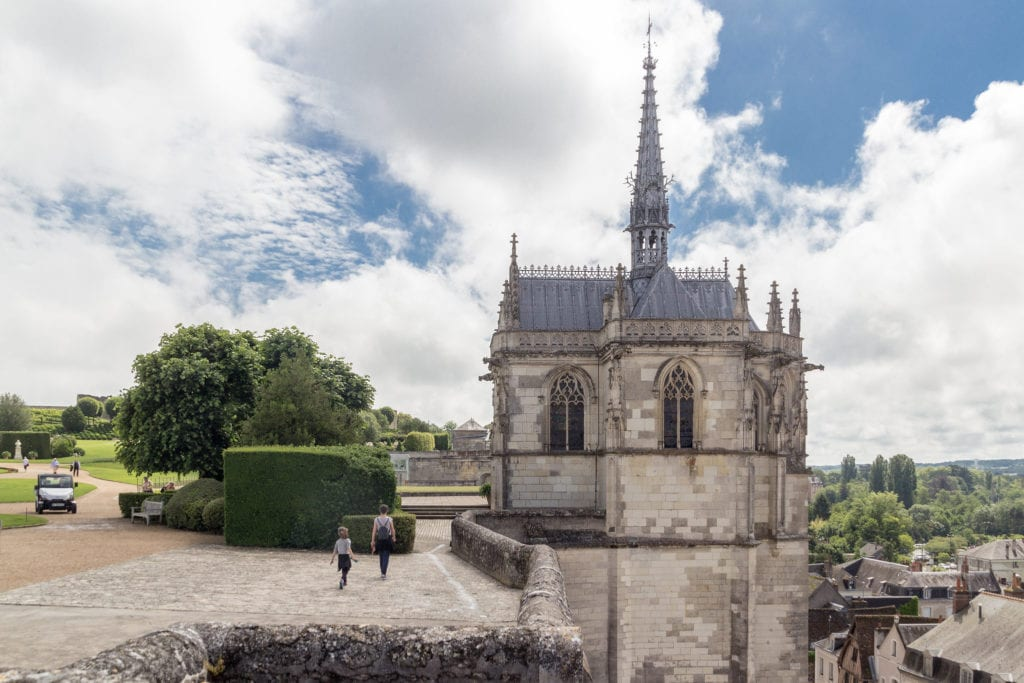 Chapelle Saint-Hubert, where Leonardo da Vinci is buried in Amboise, France.
