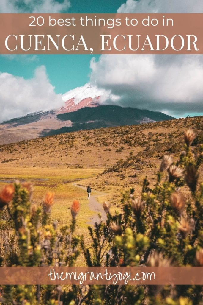 Pinterest Graphic of Cajas National Park in Ecuador - Best things to do in Cuenca