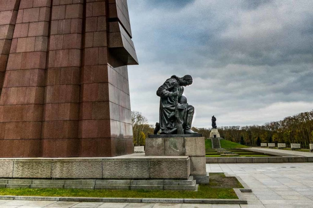 Statues in the Berlin Soviet War Memorial, one of the best things to do in Berlin.
