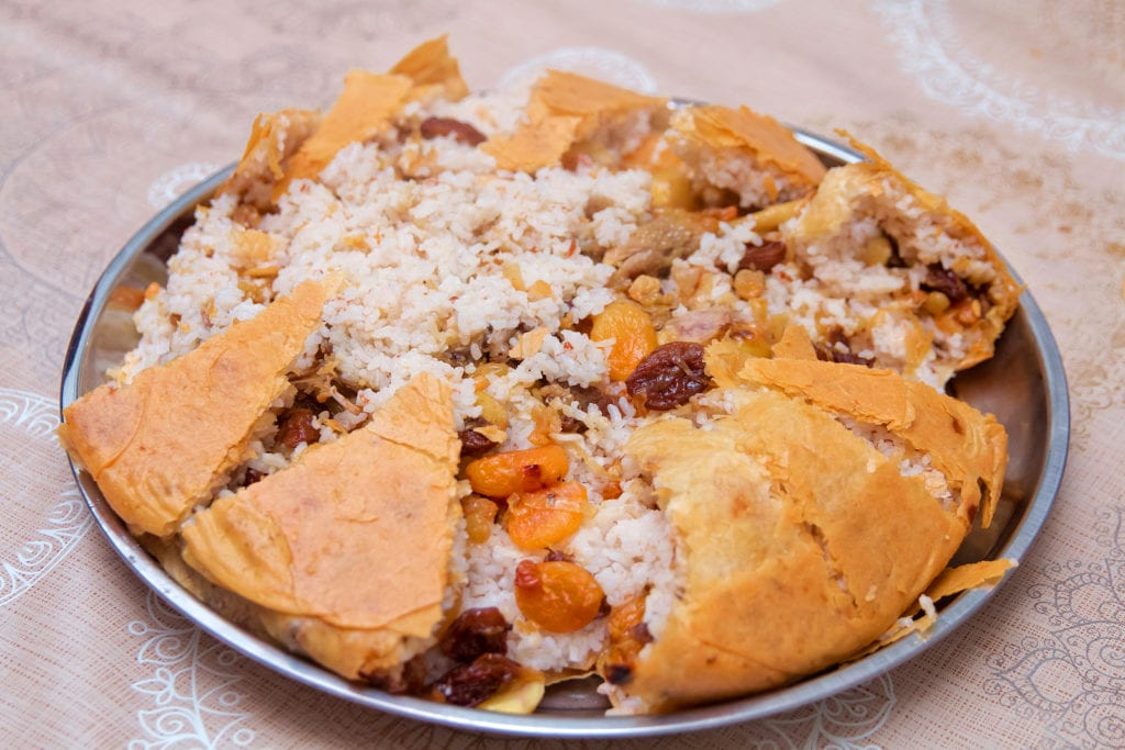 Shah Plov, a rice pilaf dish from Baku, Azerbaijan.  Learn how to make this and other Azerbaijani meals in one of the virtual cooking classes available.