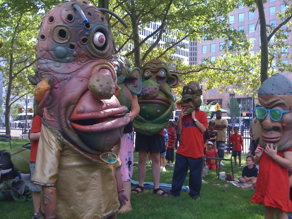 Big Nazo puppets are popular in Providence, Rhode Island.