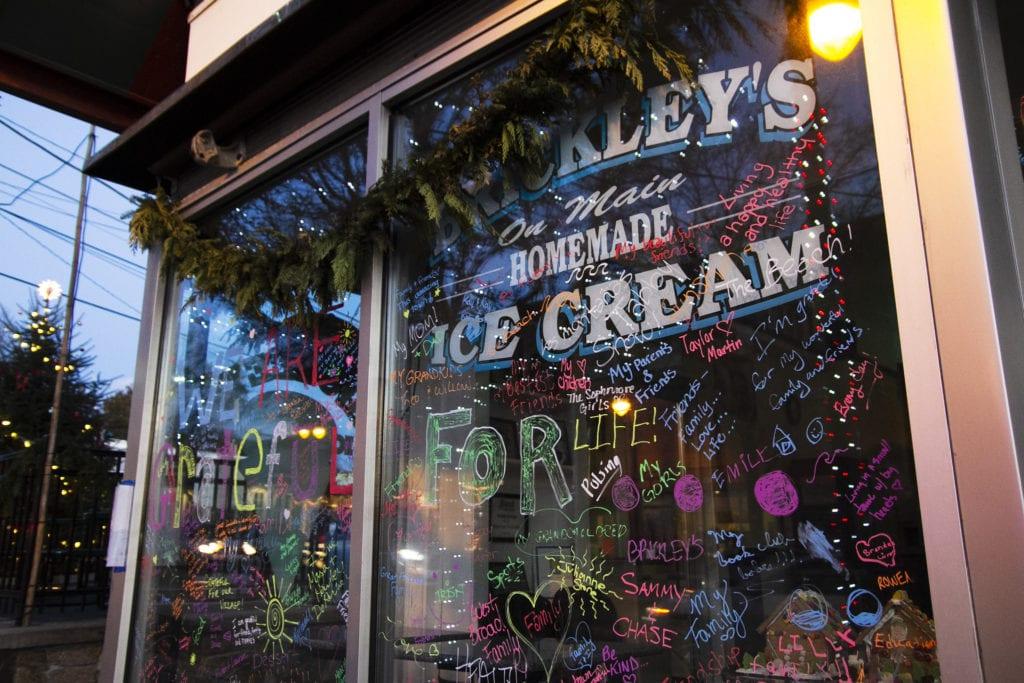 Outer façade of Brickley's Ice Cream in Rhode Island.