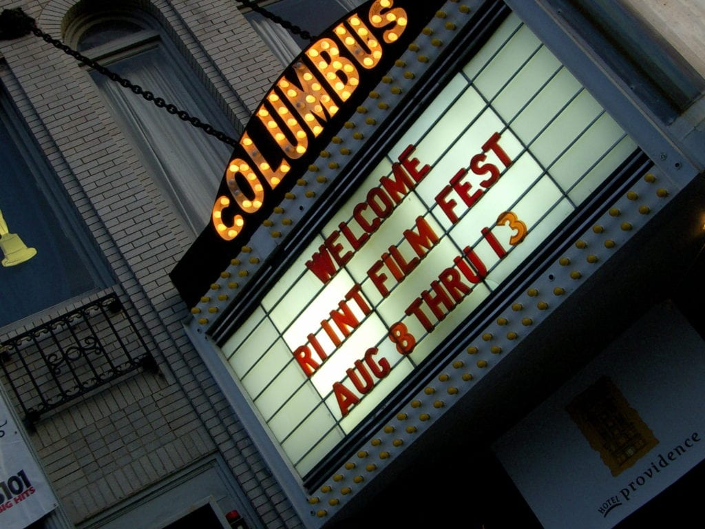 Columbus Theater Marquis in Providence, Rhode Island.