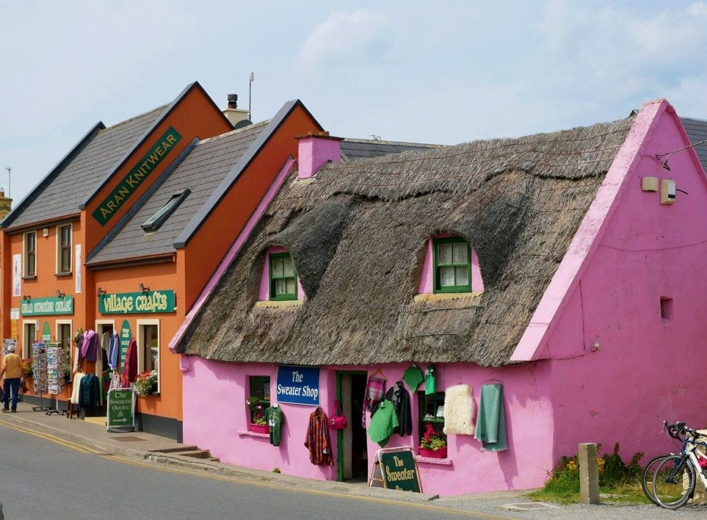 Colorful buildings in Doolin, Ireland