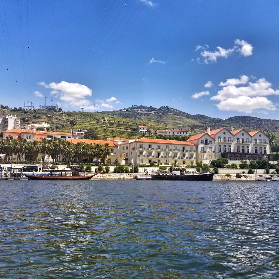 Boats docked along the Douro River in Portugal's famed wine valley