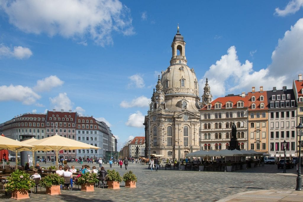 Dresden City Center is filled with stunning architecture and charming cafes.