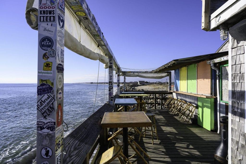 Ocean Mist Beach Bar in Matunuck, Rhode Island.