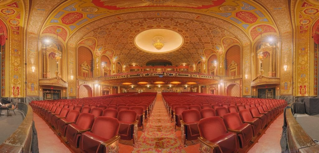 Interior of Providence Performing Arts Center in Rhode Island.