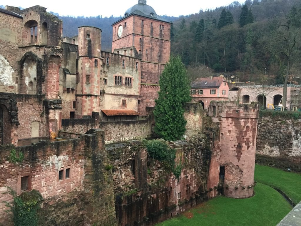 Magical places to visit in Germany - Schloss Heidelberg, damaged from war and lightning.