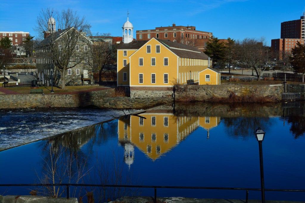 Historic Slater Mill in Pawtucket, Rhode Island.
