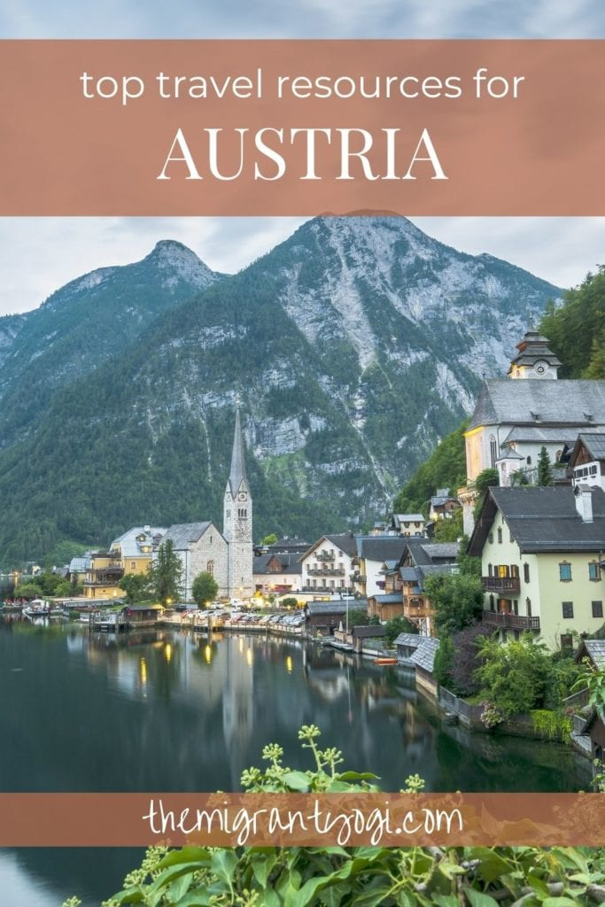 Pinterest Graphic: Top Travel Resources for Austria