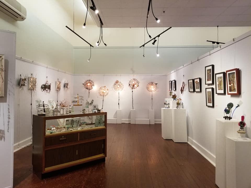 Interior of an art gallery in Hamilton, Bermuda