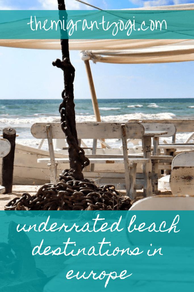 Pinterest Graphic: Underrated Beach Destinations in Europe
