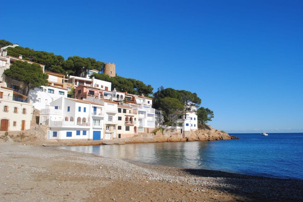Shores of Begur on the Costa Brava in Spain, a gorgeous day trip from Barcelona.