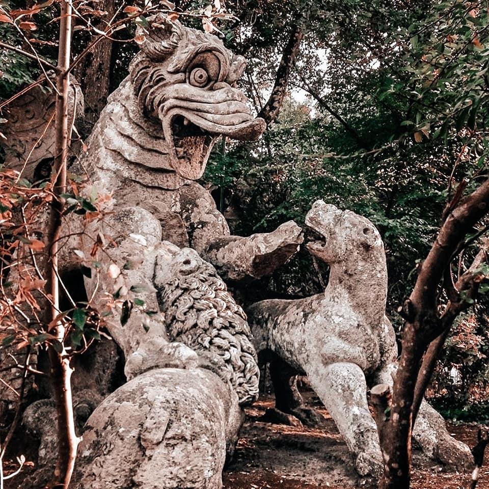 statue in parco dei mostri, in bomarzo Italy - hidden gems in tuscia