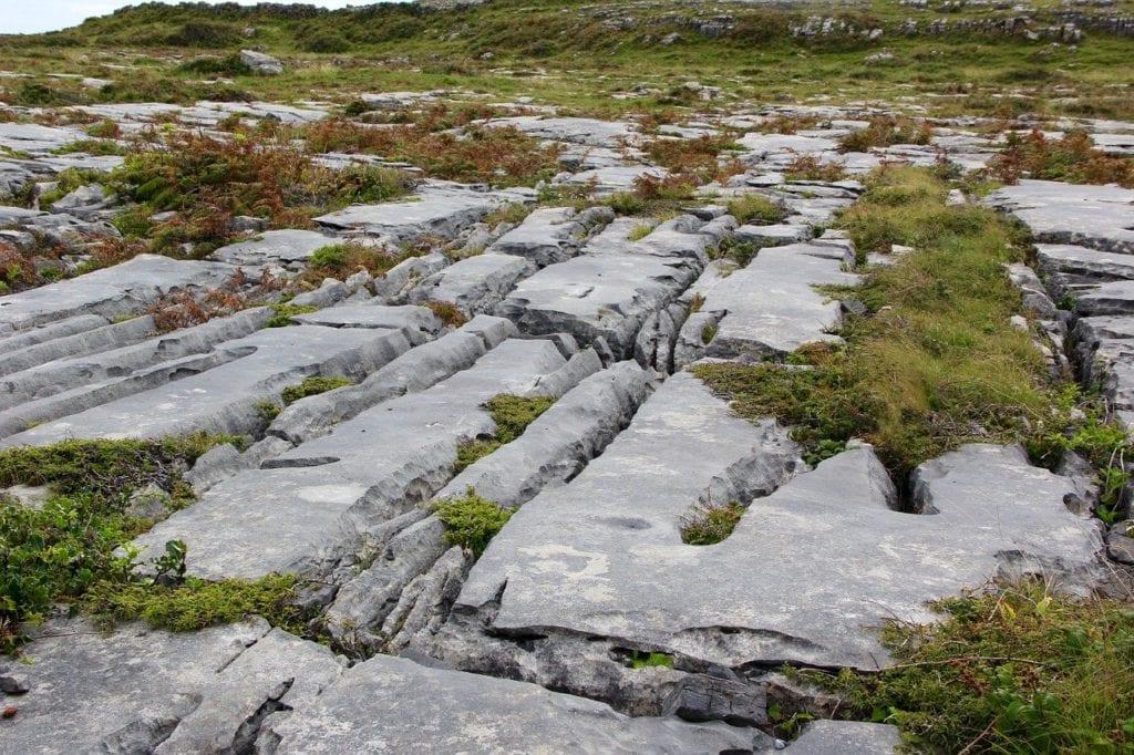 Craggy landscape of the Burren, Ireland