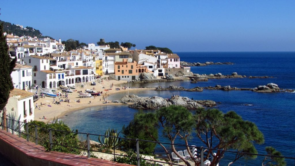 Seaside town of Calella, Spain, a quick day trip from Barcelona.
