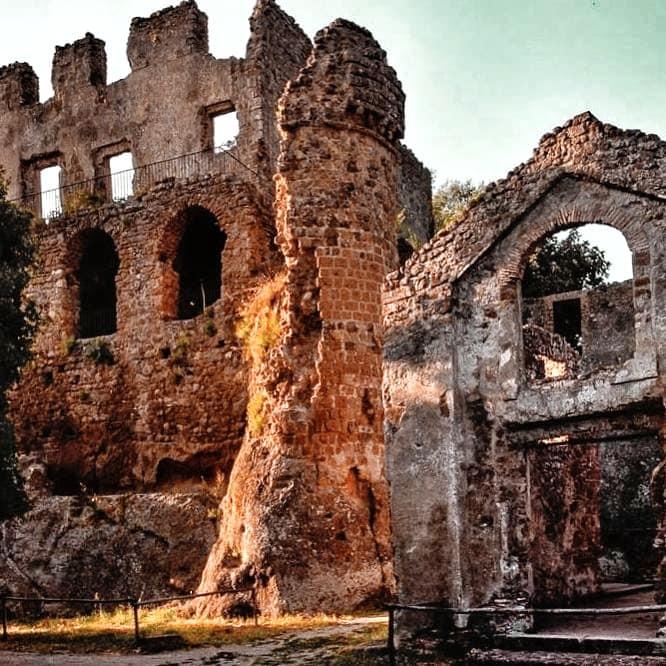 Ancient ruins of Canale Monterano, Monterano Antica
