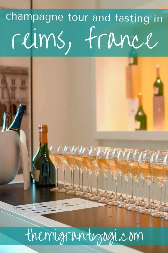 Pinterest graphic - Champagne Tasting in Reims, France
