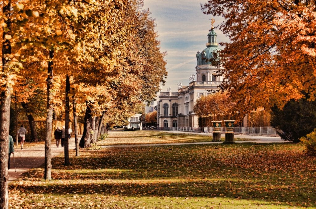 Charlottenberg Palace in Berlin is one of the most magical places to visit in Germany, particularly in Autumn.