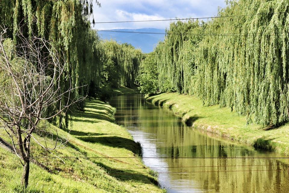Cibin River in Sibiu, Romania