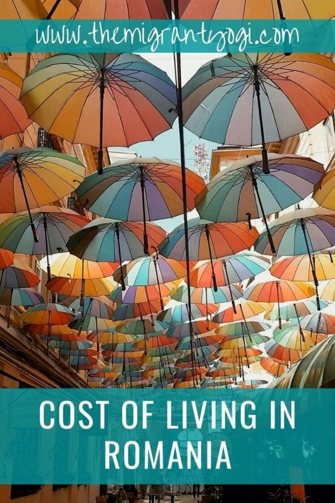 Pinterest Graphic - Cost of living in Romania