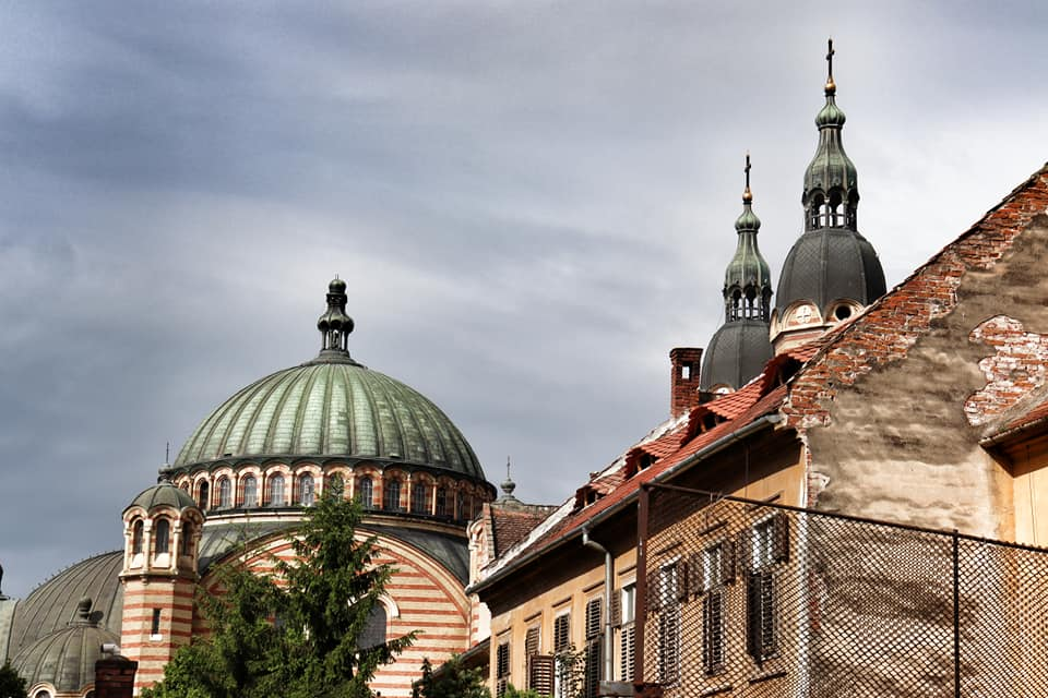 Top of the Orthodox Cathedral in Sibiu, Romania