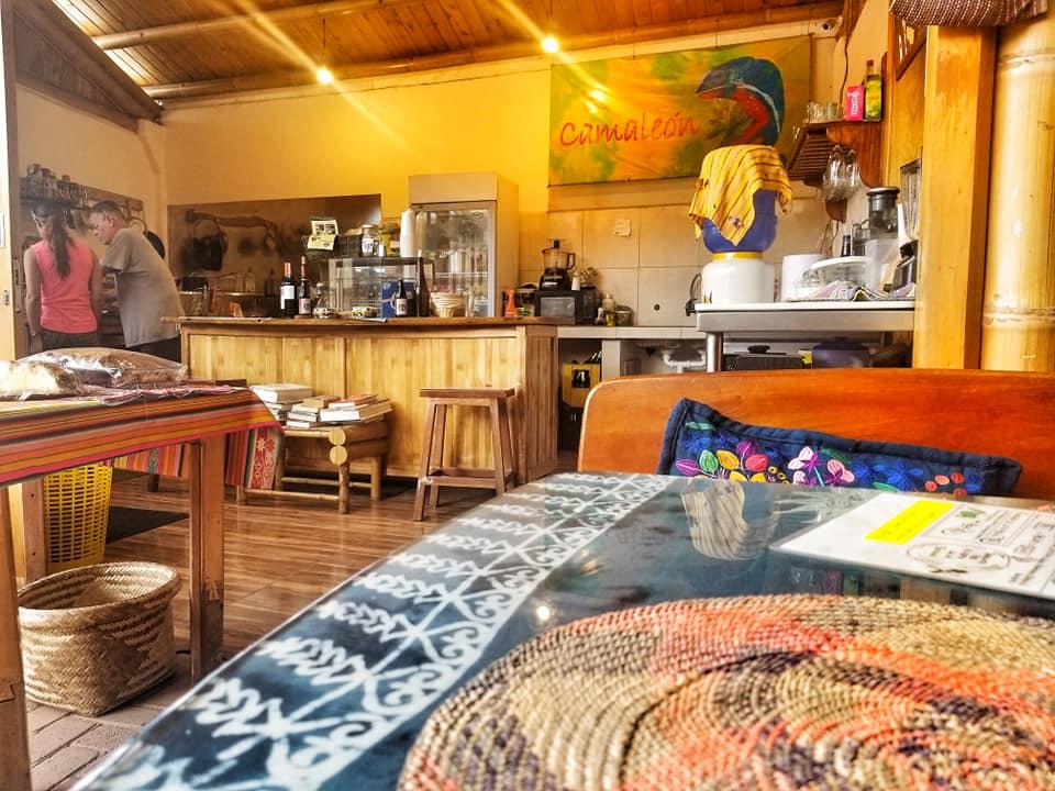 El Camaleon, a restaurant run by an American expat in Mindo, Ecuador.
