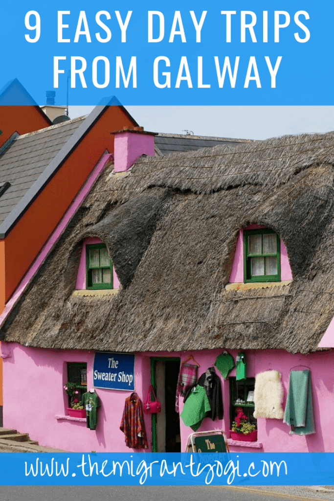 Pinterest graphic: 9 easy day trips from Galway