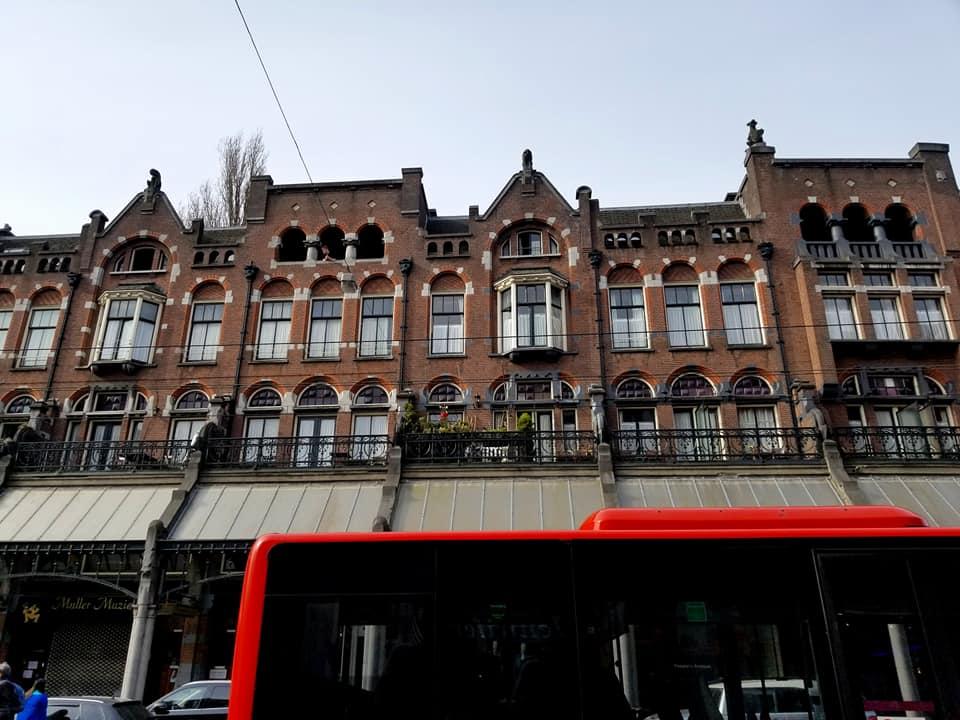 Exterior façade of the Van Gelder Paper Trading Firm building.