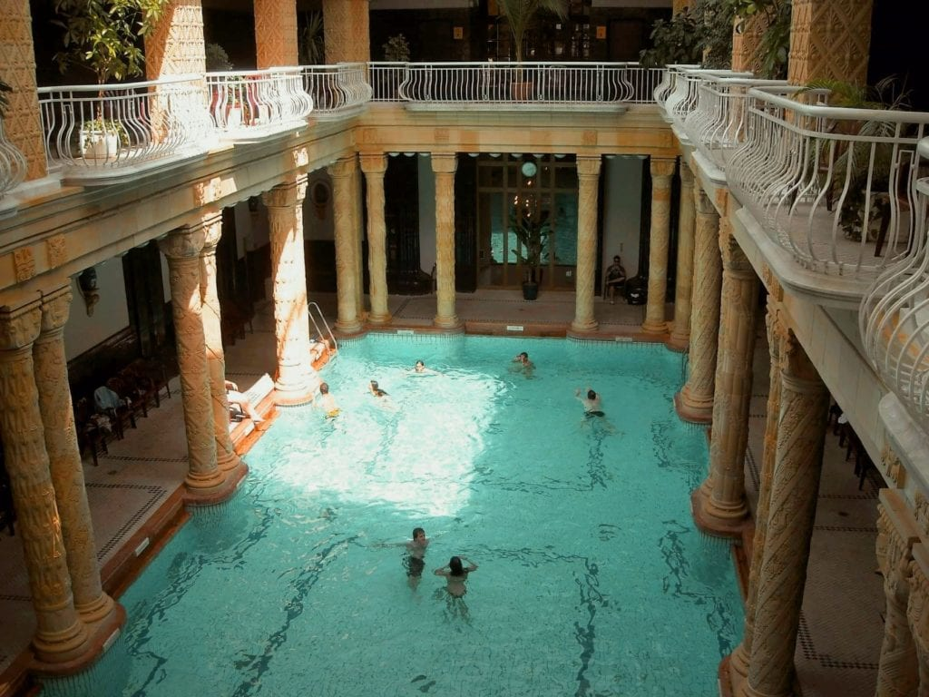 Swimming indoors in Budapest