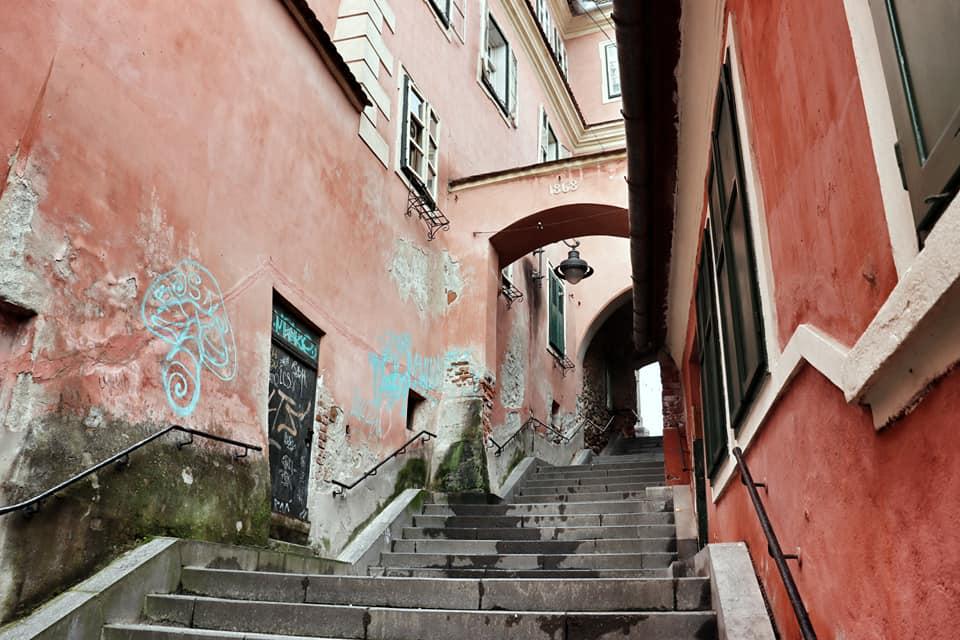 Goldsmith's Square passage in Sibiu, Romania
