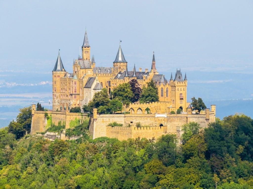 Hohenzollern Castle outside Stuttgart, Germany, one of the best preserved castles in Germany.