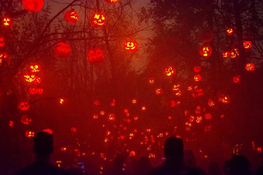 Jack'o'lantern spectacular at Roger Williams Park in Rhode Island.