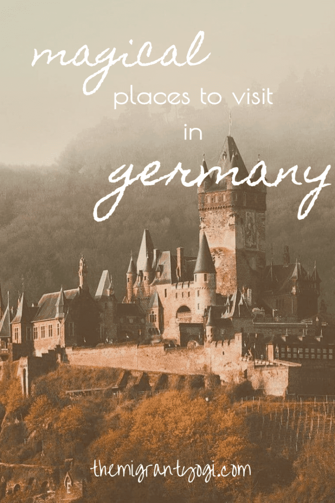"""Pinterest graphic - castle with text """"magical places to visit in Germany"""""""