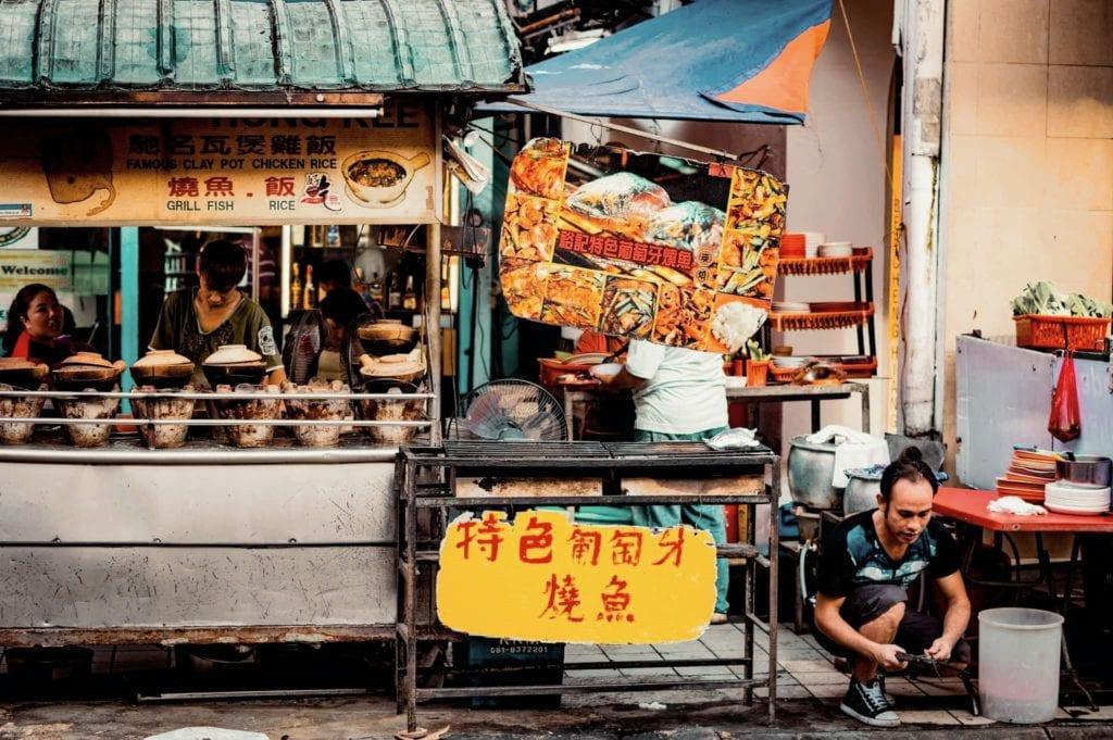 Street food prep in Kuala Lumpur, Malaysia - a fun and unique virtual tour of Asia.