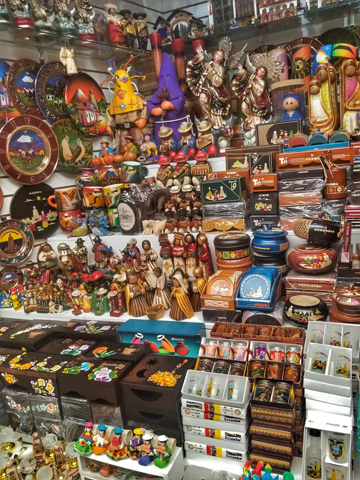 Assorted handmade goods at a market in Quito, Ecuador