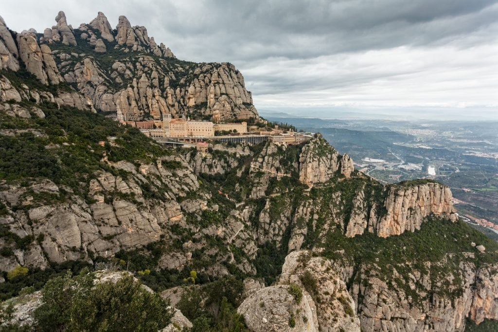 Montserrat mountainside monastery located just outside Barcelona, making for an excellent day trip from the city.
