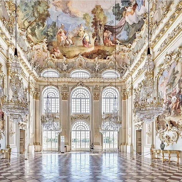Interior of Nymphenburg Palace in Germany (Munich), one of the city's most instagrammable places.
