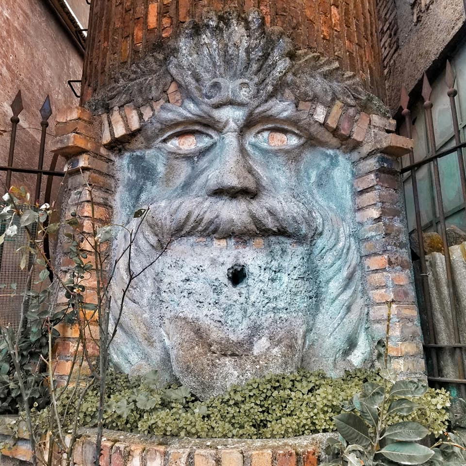 Eerie looking fountain in Oriolo Romano, Italy